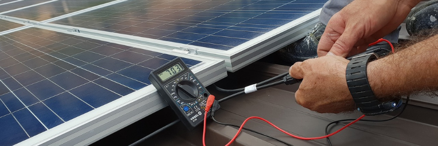 How to find internal resistance of a solar panel without a multimeter?
