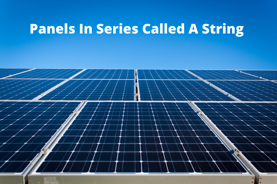 How many solarb panels on a string?