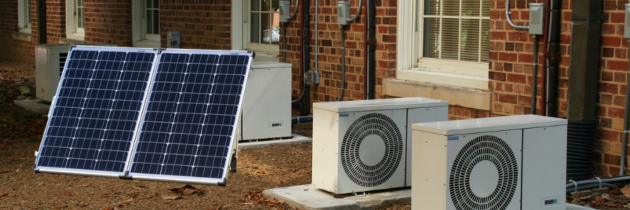 Hoe does solar therma air conditioning work?